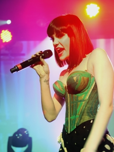 Jessie J performs on stage at Scala in London, England on January 17, 2011