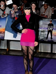 "Jessie J strikes a pose at the UK premiere of ""Justin Bieber: Never Say Never"" at Cineworld 02 Arena in London, England on February 16, 2011"