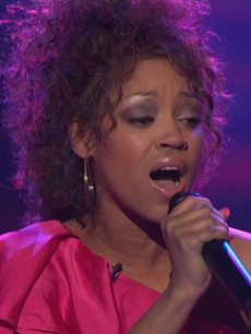 "Ashthon Jones performs one final time on ""American Idol"" on March 10, 2011"