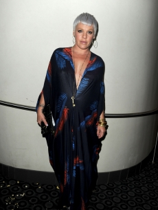 "A pregnant Pink steps out at the premiere of ""The Lincoln Lawyer"" held in the Cinerama Dome at Arclight Hollywood in Hollywood, Calif., on March 10, 2011"