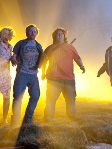 "Blythe Danner, Simon Pegg, Nick Frost and Kristen Wiig in ""Paul"""