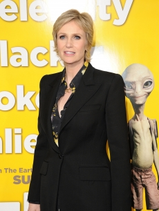 Jane Lynch arrives at the premiere of Universal Pictures&#8217; &#8220;Paul&#8221; held at Grauman&#8217;s Chinese Theater in Hollywood, Calif. on March 14, 2011 