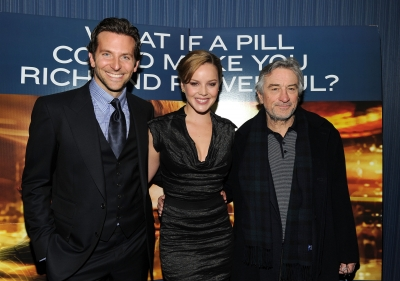 Bradley Cooper, Abbie Cornish and Robert De Niro attend Relativity Media&#8217;s world premiere of &#8216;Limitless&#8217; presented by Deleon Tequila at Regal Union Square Theatre, Stadium 14 on March 8, 2011 in New York City.