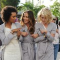 "Meet your new Angels! Rachael Taylor, Minka Kelly and Annie Ilonzeh shoot their pilot for the television reboot of ""Charlie's Angels"" on March 16, 2011, in Miami Beach, Florida"