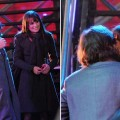 "Ashton Kutcher and Lea Michele on the set of ""New Year's Eve"" in NYC on March 15, 2011"