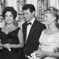 Elizabeth Taylor, Eddie Fisher and Debbie Reynolds in Las Vegas in 1958