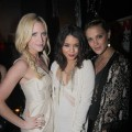 Brittany Snow, Vanessa Hudgens and Lauren Mew attend the NYLON 12th Anniversary Celebration hosted by the stars of Sucker Punch at Tru in Hollywood, Calif. on March 24, 2011