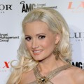 "Holly Madison from the television show ""Holly's World"" arrives at the LAX Nightclub at the Luxor Resort & Casino on February 23, 2011 in Las Vegas"