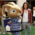 "Russell Brand poses with the Easter Bunny at the premiere of  ""Hop"" in Universal City, Calif., on March 27, 2011"