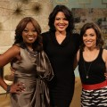 Star Jones, Sara Ramirez and Kit Hoover on Access Hollywood Live on March 31, 2011