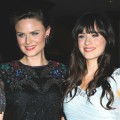 Emily Deschanel and Zooey Deschanel arrive to the 24th Annual ASC Awards For Outstanding Achievement held at Hyatt Regency Century Plaza in Century City, Calif. on February 27, 2010 