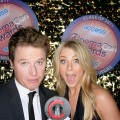 A sultry stare from Billy Bush and Julianne Hough at CinemaCon 2011 in Las Vegas, Nevada on March 31, 2011