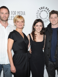 "Garret Dillahunt, Martha Plimpton, Shannon Woodward and Lucas Neff attend the Paley Center for Media's Paleyfest 2011 Event honoring ""Raising Hope"" at the Saban Theatre in Beverly Hills, Calif. on March 17, 2011"