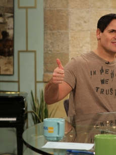 A thumbs up from Mark Cuban on Access Hollywood Live on March 22, 2011