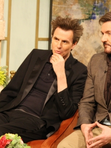 John Taylor and Simon Le Bon of Duran Duran pay a visit to the set of Access Hollywood Live on March 22, 2011