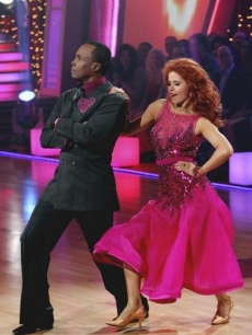 "Sugar Ray Leonard and Anna Trebunskaya perform the foxtrot on the season premiere of ""Dancing with the Stars"" on March 21, 2011"