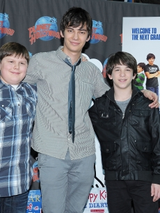 Robert Capron, Devon Bostick and Zach Gordon stop by Planet Hollywood Times Square in NYC on March 16, 2011