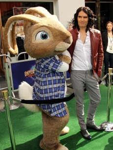 Russell Brand poses with the Easter Bunny at the premiere of  &#8220;Hop&#8221; in Universal City, Calif., on March 27, 2011