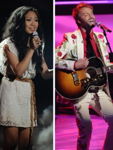 "Naima Adedapo, Thia Megia, Paul McDonald and Stefano Langone on ""Idol,"" March 2011"