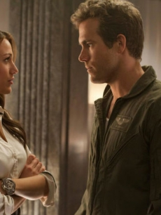 "Blake Lively and Ryan Reynolds in a scene from 2011's ""Green Lantern"""