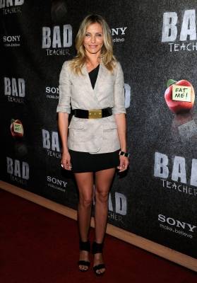 "Cameron Diaz promotes her new film, ""Bad Teacher,"" at The Colosseum at Caesars Palace during the 2011 CinemaCon in Las Vegas, Nevada, on March 30, 2011"