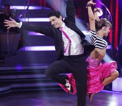 Ralph Macchio and Karina Smirnoff perform on &#8220;Dancing with the Stars&#8221; on March 28, 2011