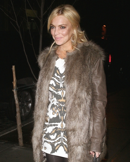 Lindsay Lohan attends the Cinema Society &amp; Coach screening of &#8220;Source Code&#8221; at the Crosby Street Hotel in New York City on March 31, 2011 