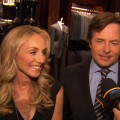 Michael J. Fox and wife Tracy Pollan chat with Access Hollywood in New York City on April 8, 2011