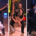 "Ralph and Karina; Hines and Kym; Chelsea and Mark on ""Dancing with the Stars,"" April 11, 2011"
