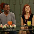 Sugar Ray Leonard and Anna Trebunskaya visit Access Hollywood Live, Burbank, April 15, 2011