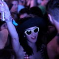 Katy Perry watches Sleigh Bells during Day 1 of the Coachella Valley Music & Arts Festival 2011 held at the Empire Polo Club in Indio, Calif. on April 15, 2011