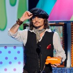 Johnny Depp accepts an award during Nickelodeon's 24th Annual Kids' Choice Awards at Galen Center in Los Angeles on April 2, 2011