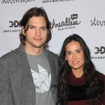 Ashton Kutcher and Demi Moore attend the launch party for &#8220;Real Men Don&#8217;t Buy Girls&#8221; at Steven Alan Annex in New York City, on April 14, 2011   