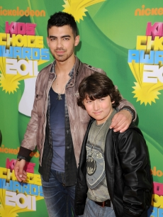 Joe Jonas and Frankie Jonas arrive at Nickelodeon's 24th Annual Kids' Choice Awards at Galen Center in Los Angeles on April 2, 2011