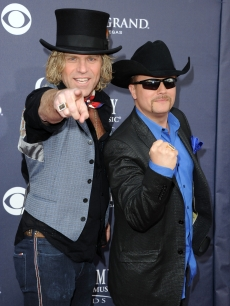 Kenny Alphin and John Rich of Big and Rich arrive at the 46th Annual Academy Of Country Music Awards RAM Red Carpet held at the MGM Grand Garden Arena in Las Vegas on April 3, 2011