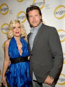 Tori Spelling and Dean McDermott attend Oxygen Media's 2011 upfront presentation at Gotham Hall, NYC, April 4, 2011