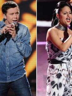 "Pia Toscano and Scotty McCreery perform on ""American Idol"" on April 6, 2011"