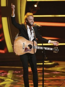 "Paul McDonald sings Johnny Cash's ""Folsom River Blues"" on ""American Idol"" on April 6, 2011"