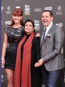 Sara Rue, Carrie Fisher and Ross Mathews arrive at the 4th Annual Logo&#8217;s &#8220;NewNowNext Awards&#8221; 2011 at Avalon in Hollywood, Calif. on April 7, 2011 