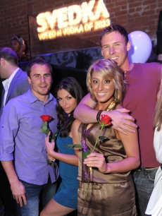 Stephen Stagliano, DeAnna Pappas, Vienna Girardi and Kasey Kahl attend SVEDKA Vodka's Night of a Billion Reality Stars premiere screening event in Hollywood, Calif., on April 7, 2011