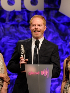Julie Bowen, Jesse Tyler Ferguson, and Ariel Winter speak onstage during the 22nd Annual GLAAD Media Awards presented by ROKK Vodka at Los Angeles&#8217; Westin Bonaventure in Los Angeles, Calif. on April 10, 2011