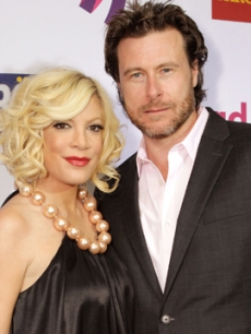 Tori Spelling and Dean McDermott at the 2011 GLAAD Awards in Los Angeles on April 10, 2011