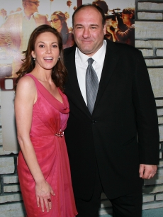 "Diane Lane and James Gandolfini attend the premiere of HBO Films' ""Cinema Verite"" at the Paramount Theater in Hollywood, Calif. on April 11, 2011"