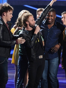 "Paul McDonald says farewell to ""American Idol"" on April 14, 2011"