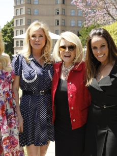 Paris and Kathy Hilton and Joan and Melissa Rivers take part in NBC Universal&#8217;s Summer Press Day 2011 at the Langham Hotel, Pasadena, Calif., April 15, 2011