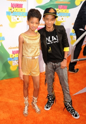 Willow Smith and Jaden Smith arrive at Nickelodeon's 24th Annual Kids' Choice Awards at Galen Center in Los Angeles on April 2, 2011