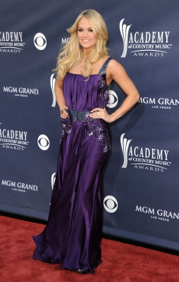 Carrie Underwood arrives at the 46th Annual Academy Of Country Music Awards RAM Red Carpet held at the MGM Grand Garden Arena in Las Vegas on April 3, 2011