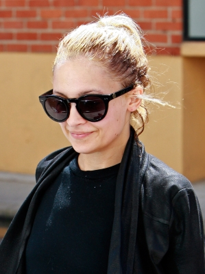Nicole Richie is spotted wearing sunglasses while leaving the the gym in Los Angeles on April 5, 2011