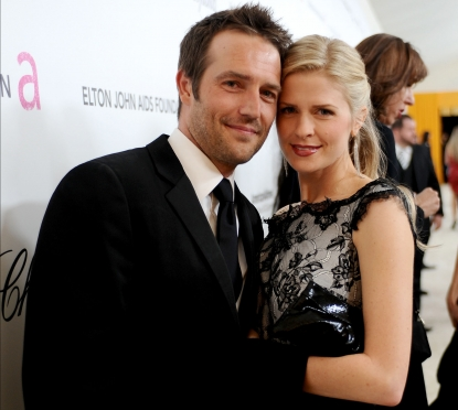 Michael Vartan and Lauren Skaar attend the 19th Annual Elton John AIDS Foundation Academy Awards Viewing Party at the Pacific Design Center in West Hollywood, Calif., on February 27, 2011