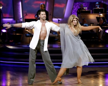 "Maksim Chmerkovskiy and Kirstie Alley perform during Week 3 of ""Dancing with the Stars,"" April 4, 2011"